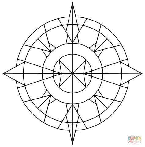 printable coloring pages kaleidoscope simple kaleidoscope coloring page free printable