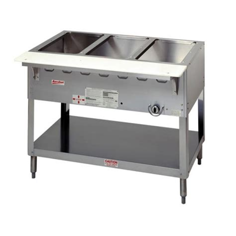 duke wb304 aerohot 4 well wet bath steam table propane