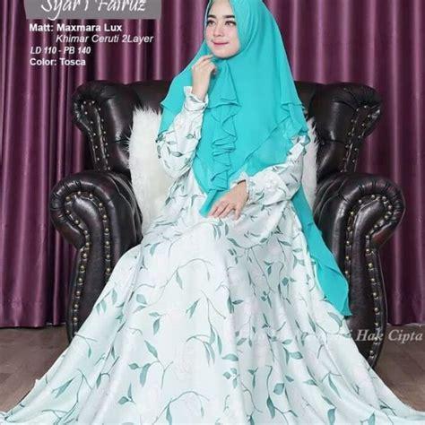 Gamis Miranti Syar I gamis syar i fairuz motif bunga model busana sarii