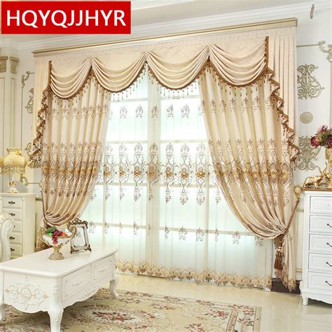2016 weekend european luxury blackout curtains for living hqyqjjhyr european luxury embroidered blackout curtains