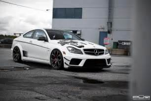 barbaric mercedes c63 amg black series lowered on pur