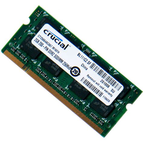 crucial 2gb ddr2pc2 5300 667mhz laptop memory ram