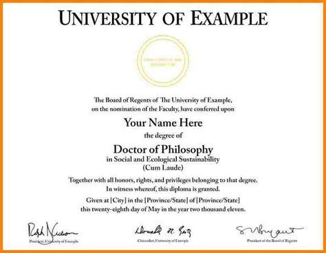6  university graduation certificate template   sample of