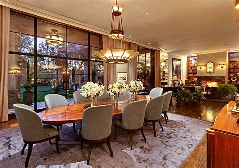 Mansion Dining Room by Jeremy Renner S Art Deco Style House In L A Hooked On