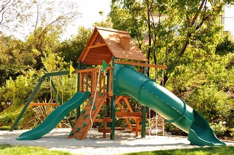 Playsets For Backyard by Backyard Playsets Landscaping Network