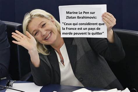 Calendrier 2018 Parlement Européen Marine Le Pen Invite Zlatan Ibrahimovic 224 Quitter La