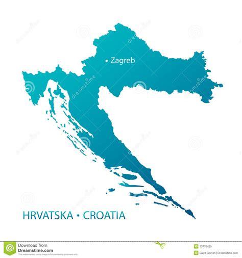 croatia map vector croatia map highly detailed blue vector stock vector