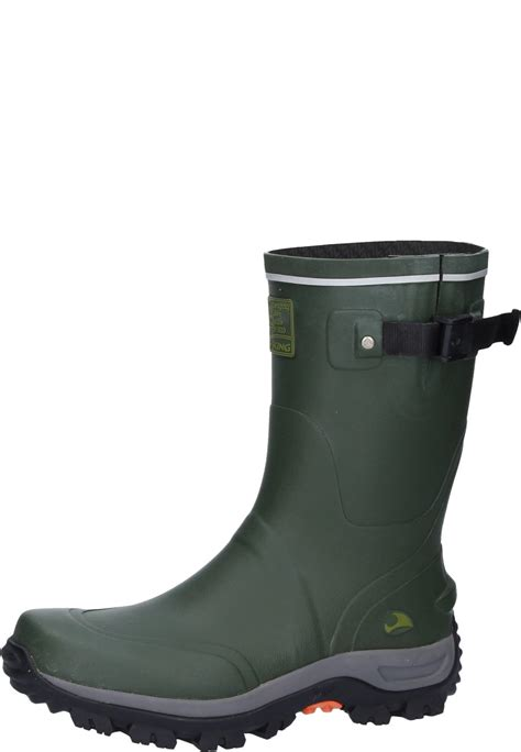 viking trapper rubber boots a half height natural - Rubber Boot Height