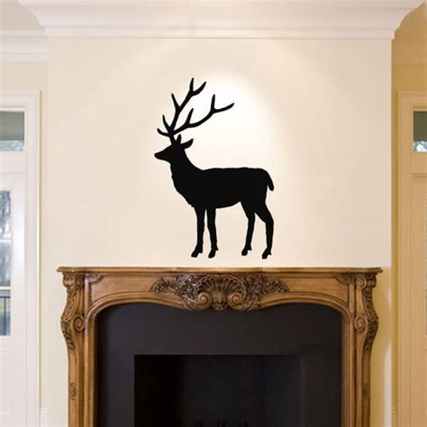 stag wall decal sticker home decor animal deer living room