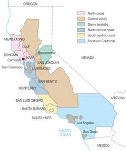 california wine growing regions map aiw wines california