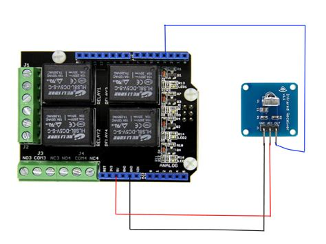 arduino code for relay arduino relay shield controlled by remote control exle