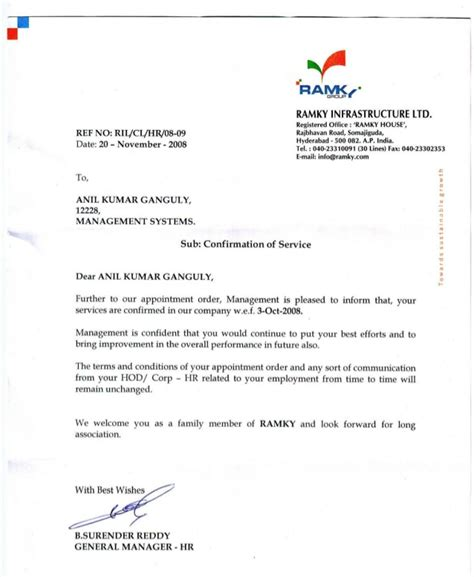 Confirmation Letter Nmat 100 Appointment Confirmation Letter Confirmation Of Appointment Letter Easy To