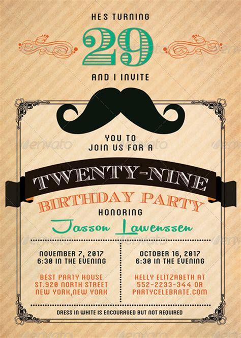mustache birthday card template 15 intimate birthday greetings card templates
