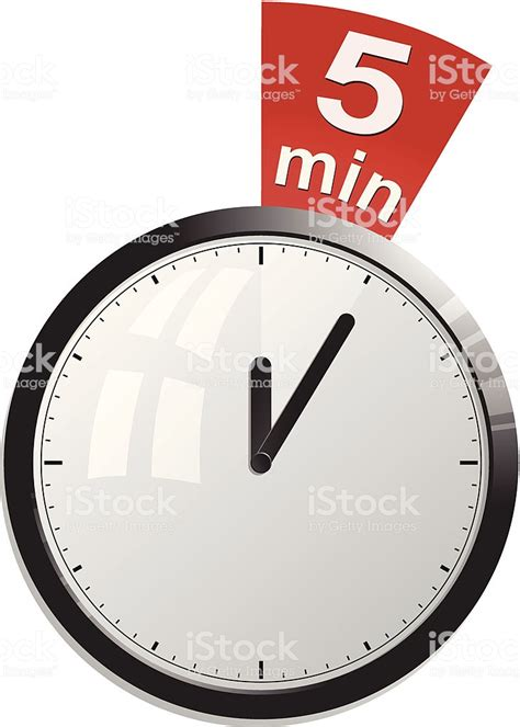digital countdown timer five minutes interval stock vector 476867392