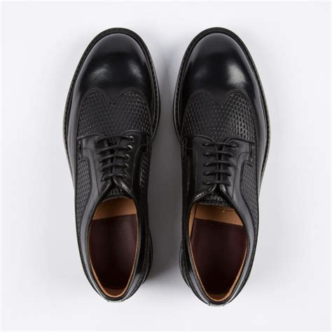 paul smith leather derby shoes in black lyst