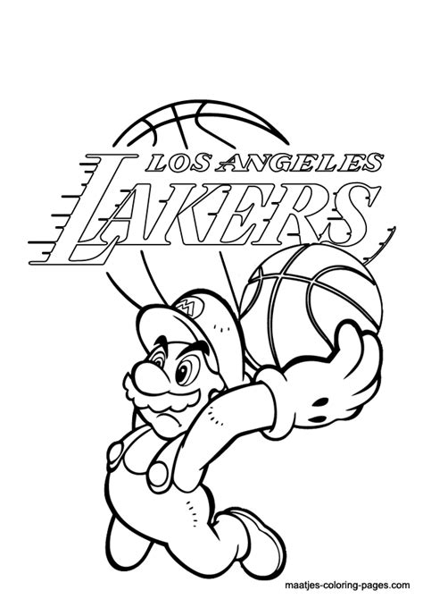 nba lakers coloring pages lakers coloring sheets coloring pages