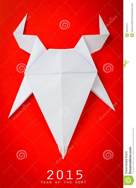 origami goat for new year origami paper goat on background stock image image