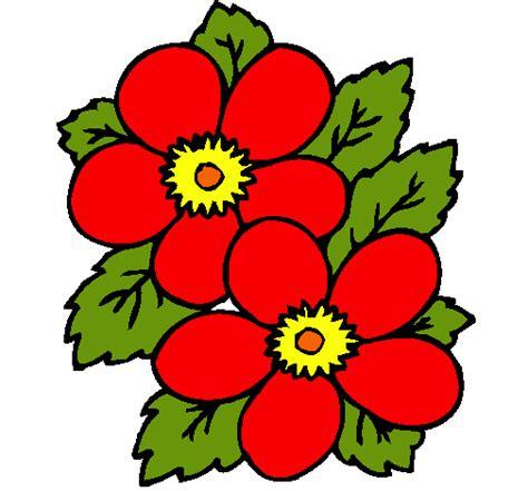 imagenes de flores rojas para dibujar dibujo de flores pintado por rojas en dibujos net el d 237 a