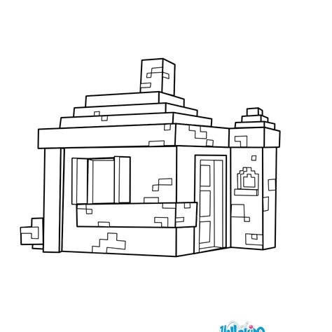 coloring pages minecraft house house coloring pages hellokids com