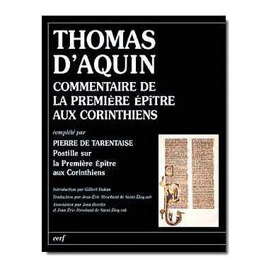 Saint Thomas D Aquin Commentaire De La Premi 232 Re 201 P 238 Tre