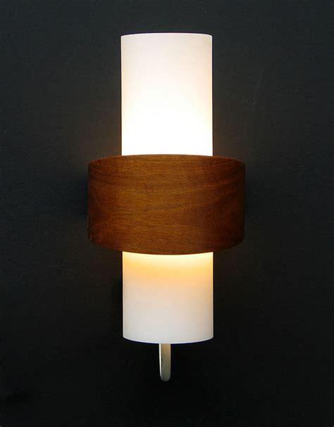 philips modern wooden milk glass wall light eames wegner