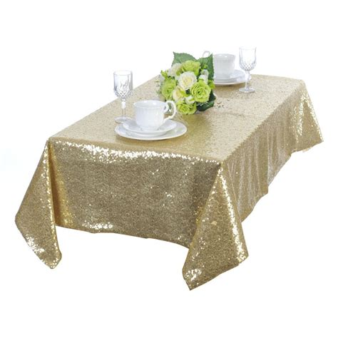 popular gold sequin tablecloth buy cheap gold sequin