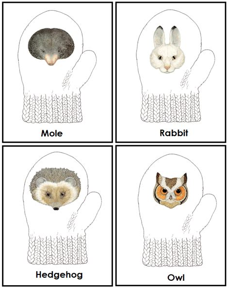 new year animal sequencing the mitten by jan brett printables