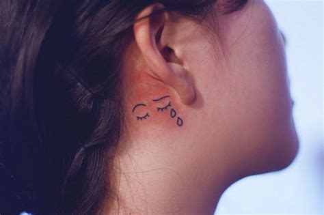 small heart tattoos behind ear 11 tiny ideas for your ear from