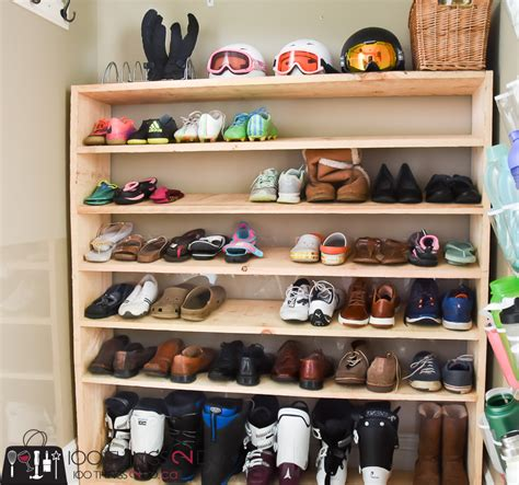 shelves for shoes how to make a sized shoe rack on a budget