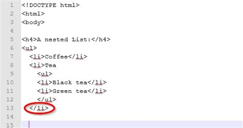 Html Lite by How To Create A Nested List In Html 7 Steps With Pictures