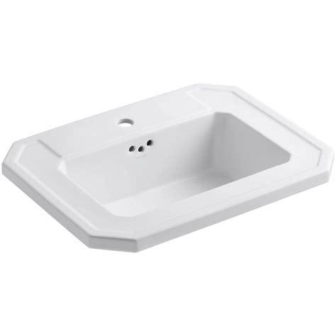 kohler drop in bathroom sinks kohler kathryn drop in vitreous china bathroom in
