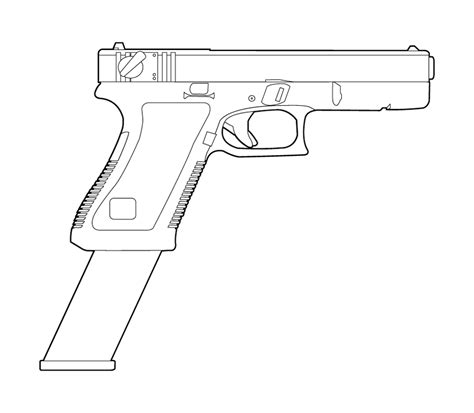 9mm Drawing by 9mm Glock Clipart Clipart Suggest