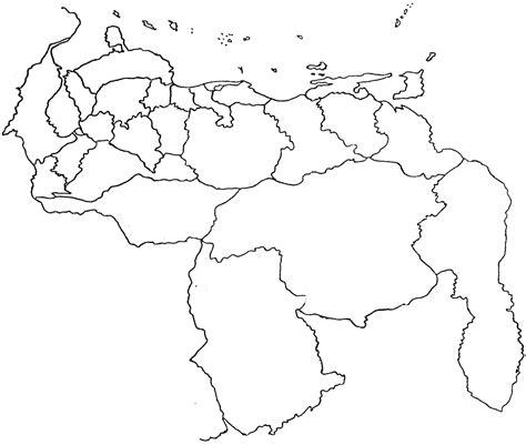 imagenes de venezuela para colorear mapas pol 237 ticos territoriales de venezuela para colorear