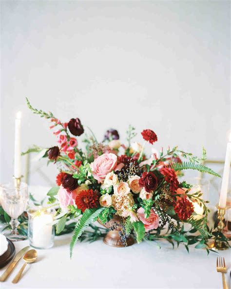 burgundy wedding table centerpieces 66 rustic fall wedding centerpieces martha stewart weddings