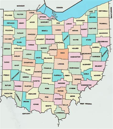map of ohio counties ohio county map