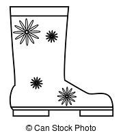rubber boot icon rubber boot icon outline style rubber boot icon in