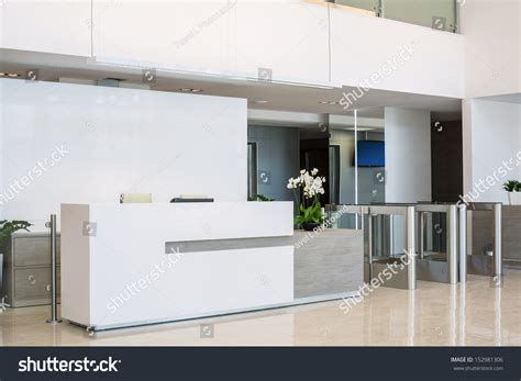Front Desk For Business by Front Desk Business Center Modern Style Stock Photo