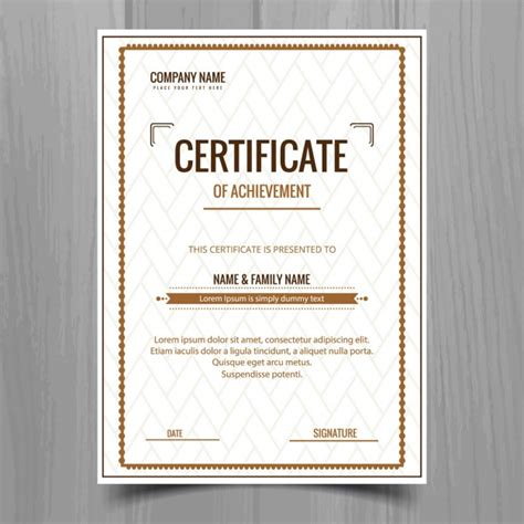 Free Vector Certificate Templates by Simple Certificate Template Vector Free