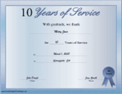 Business Certificates Free Printable Certificates Years Of Service Certificate Template