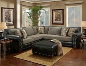 black and grey sectional sofa nailhead trim images frompo