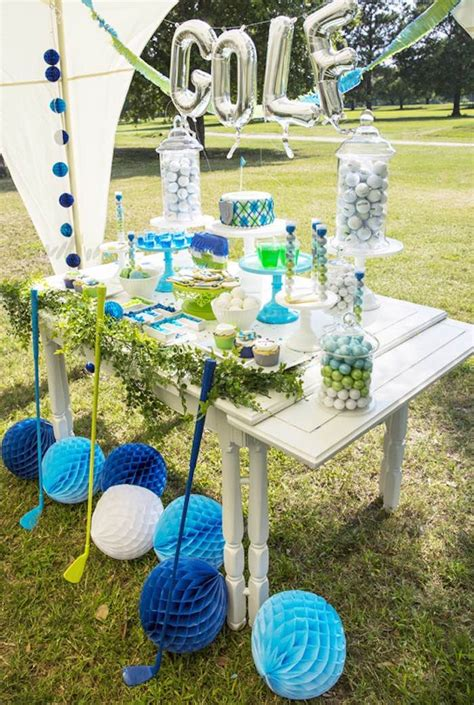 golf themed decorating ideas kara s ideas golf themed birthday kara s