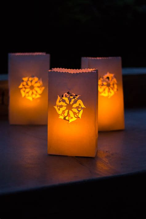 patterns for paper bag luminaries end of summer luminaries design improvised
