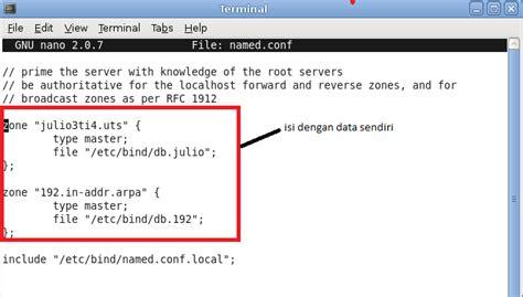 tutorial linux dns server membuat dns server di linux debian berbage ilmu