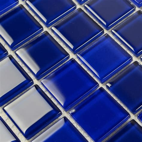Blue Glass Kitchen Backsplash blue glass mosaic tile backsplash crystal glass tiles