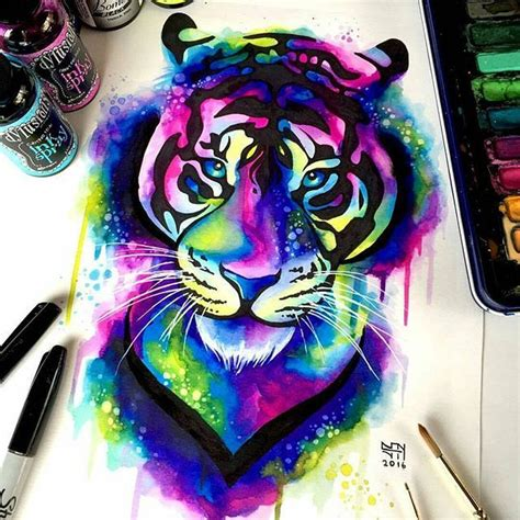 watercolor tattoo sydney best 25 tiger painting ideas on tiger