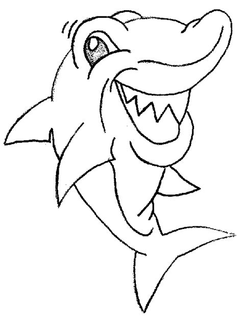 free coloring pages of shark