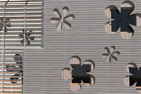 flower design elevation cladding designs at the cutting edge technical