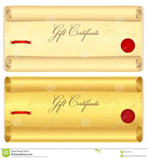 certificate scroll template gift certificate voucher template scroll pa stock