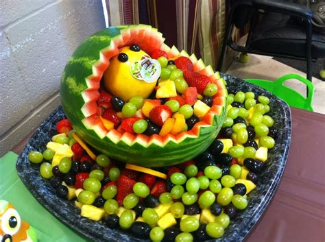 Baby Shower Melon Carriage by Watermelon Baby Carriage Catering Baby