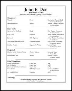 Job Resume Samples For Starters by Use These Free Acting Resume Samples To Create And Format